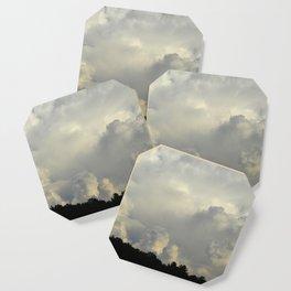 White Cloudscape Coaster
