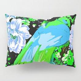 Flower and Peacock Garden Pillow Sham