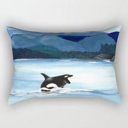 Orca Breach Rectangular Pillow