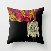 musa Throw Pillows featuring cosmorot by musa