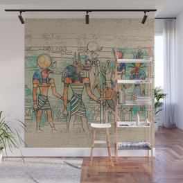 Egyptian Gods on canvas Wall Mural