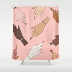 Worldwide Babes Shower Curtain