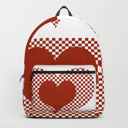 Patchwork Hearth White and Red Backpack