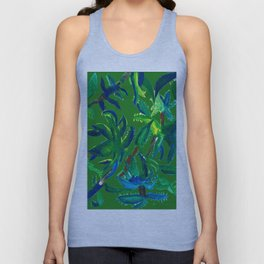 Cactus Abstract With Background Unisex Tank Top