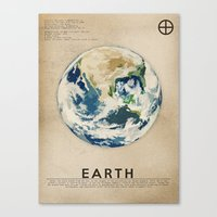 earth Canvas Prints featuring Earth by Heather Landis