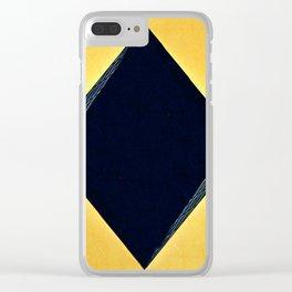 Modern art Diamond pattern A Clear iPhone Case