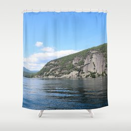 Summer's End: Roger's Rock on Lake George Shower Curtain