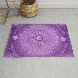 """Purple & Mallow Vault Mandala"" (Silver stars) Rug"