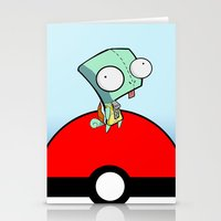 squirtle Stationery Cards featuring GIR Squirtle  by Diffro