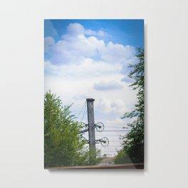 Líneas Metal Print