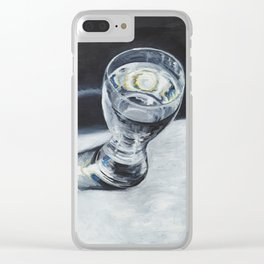 Glass of the water in the light Clear iPhone Case