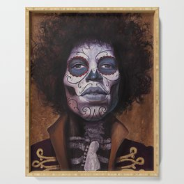 Jimi Hendrix Day of the Dead Serving Tray
