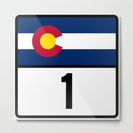 Colorado State Highway 1 Shield  Metal Print