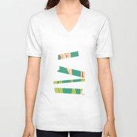 bambi V-neck T-shirts featuring Bambi by Katlix Design
