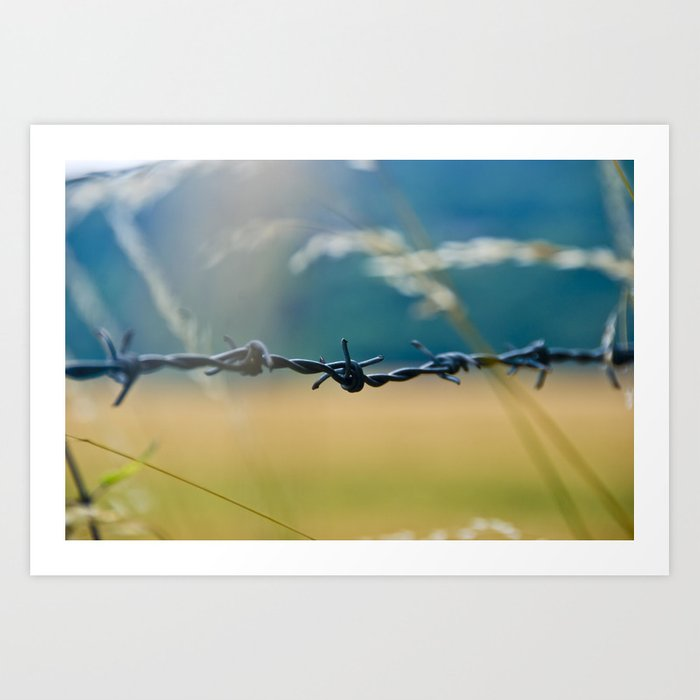 Love Knot - Barbed Wire Fence Art Print by element44 | Society6