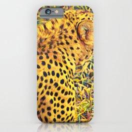Cheetah Art Print // Cheetah Print // Cheetah Pattern iPhone Case