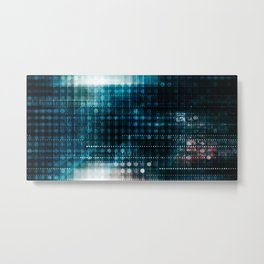 Online Security on the Internet as a Digital Concept Metal Print