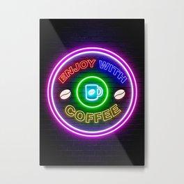 enjoy with coffee Metal Print