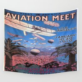 Vintage poster - Aviation Meet Wall Tapestry