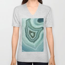 The world of gems - light blue agate Unisex V-Neck