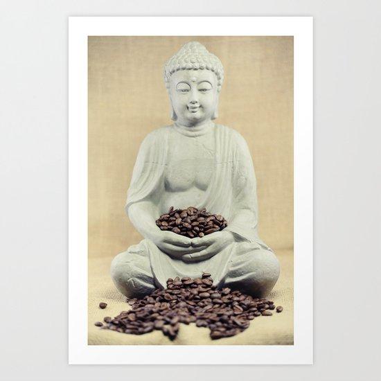 Coffee beans Buddha 3 Art Print