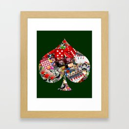 Spade Playing Card Shape - Las Vegas Icons Framed Art Print