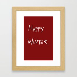 Happy Winter Framed Art Print