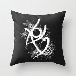Fearless Rune Throw Pillow