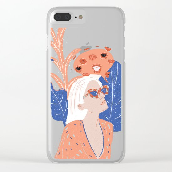 Thinkin About Kissin You Clear iPhone Case