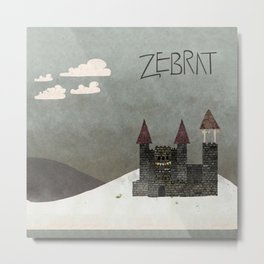 At the Castle - inspired by Zebrat Metal Print