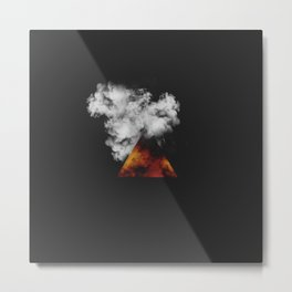 Triangle of Fire & Smoke Metal Print