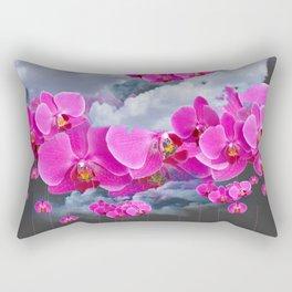 PINK ORCHID FLOWERS CLOUDS & RAIN Rectangular Pillow