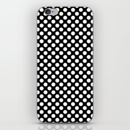 Black and white small dots iPhone Skin