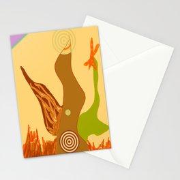 sandy pale Stationery Cards