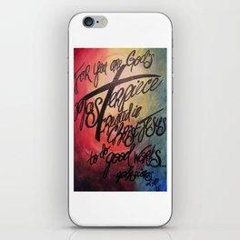 God's Masterpiece Cross iPhone Skin