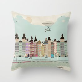Visit Amsterdam Throw Pillow