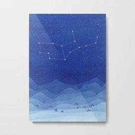 Virgo constellation, mountains Metal Print