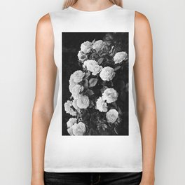 Black And White Roses Biker Tank