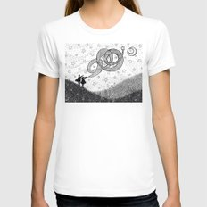 Bottling Starlight White Womens Fitted Tee SMALL