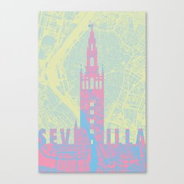 Giralda Sevilla cityscape Canvas Print