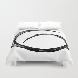Abstract black shape.Minimalistic shape Duvet Cover