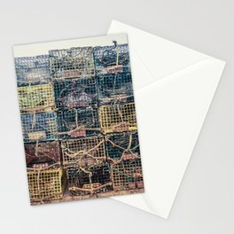 Lobster Traps Kennebunkport Maine Fisherman Dock Wharf New England Atlantic Stationery Cards