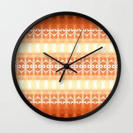 Tribal Sunset Wall Clock