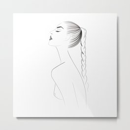 sexy naked woman Metal Print