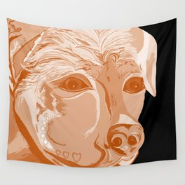 Rottweiler Sepia Tones Wall Tapestry