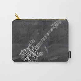 Guitar on chalkboard Carry-All Pouch