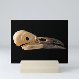 crow skull Mini Art Print