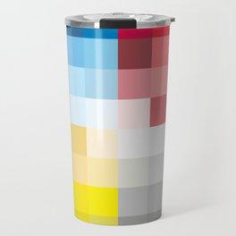 CMYK Pixel Travel Mug