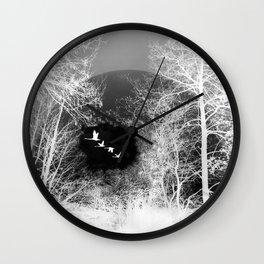 Tree and sky Wall Clock