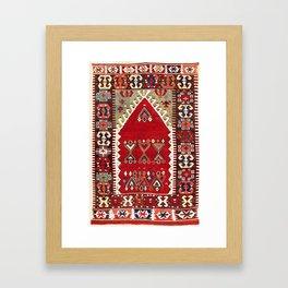 Konya Central Anatolian Niche Kilim Print Framed Art Print